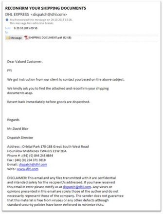 Clever phishing attempt from Nigerian scammers – safecontrols